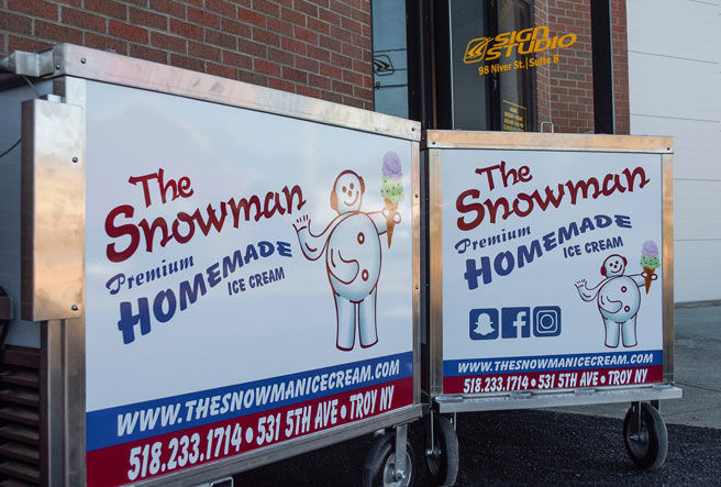 The Snowman Ice Cream - Mobile Catering Cart - Troy, NY